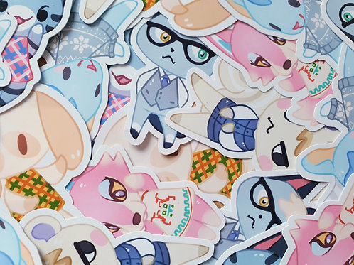 Animal Crossing Character Set 4 Stickers
