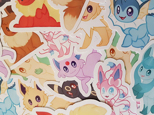 Pokemon Eeveelution Sticker Set