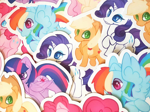MLP Main Six Sticker Set