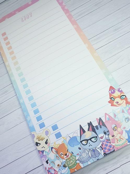 Animal Crossing 2 List Pad