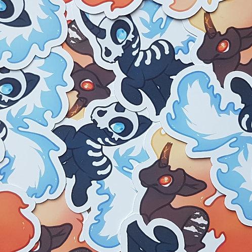 Halloween Fire Pony Stickers