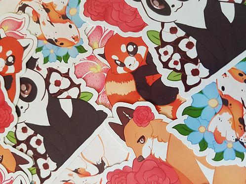 Panda Bear / Fox / Fish / Red Panda / Sticker