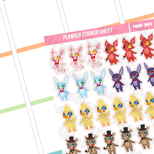 FNAF Sticker Sheet