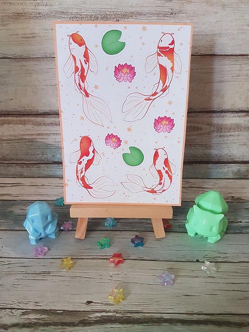 Koi Fish Sticker Sheet