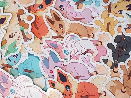 Pokemon Eeveelution Sticker Set Halloween