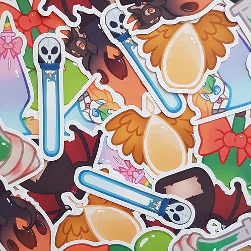 Halloween Potion Bottles Stickers