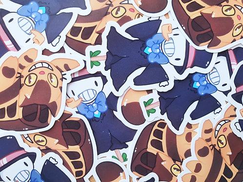 Catbus and Turnip Head Sticker