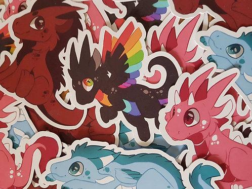 Dragon Chibi Sticker Set