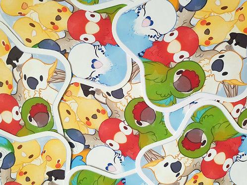 Birds Star Sticker