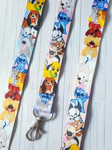 Disney Dogs Pokemon Lanyard