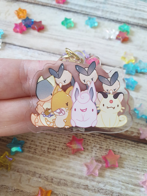 "Normal Pokemon 3 / 2"" Acrylic Charm"