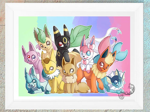 Pokemon Eeveelution Rainbow