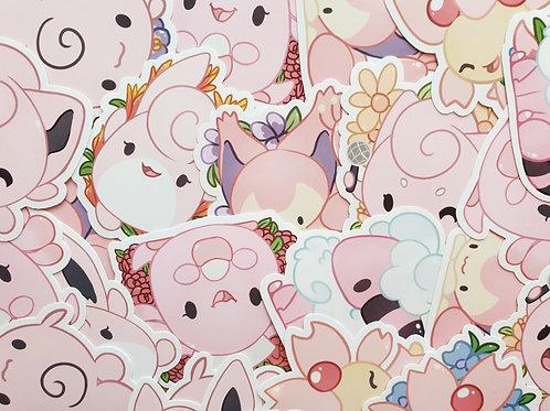 Pink Pokemon Stickers