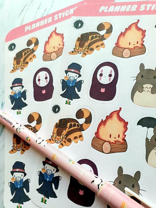 Ghibli Sticker Sheet