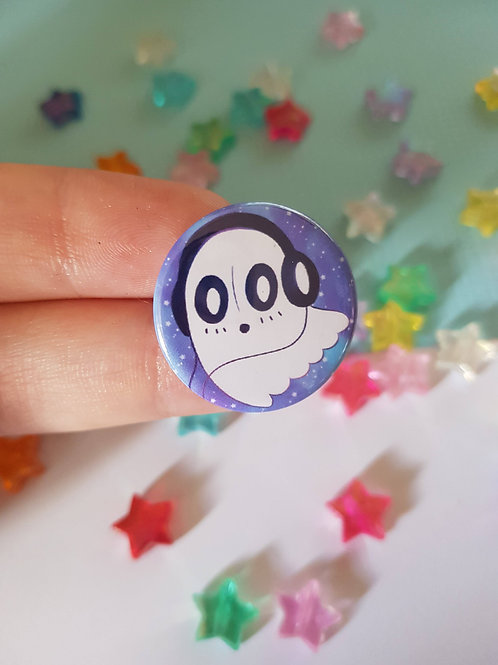 Napstablook Undertale Pin Badge Button