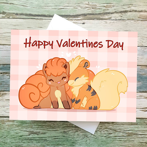 Vulpix and Growlithe Greeting Card