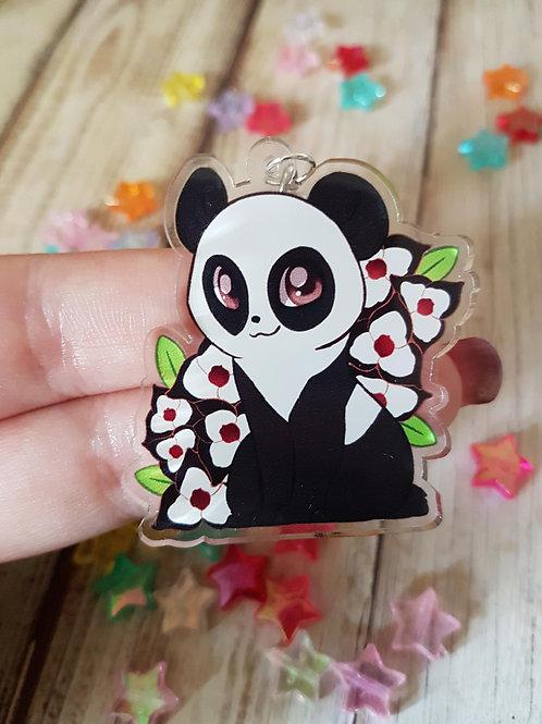 "Panda Clear 2"" Acrylic Charm"