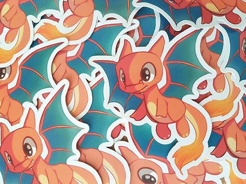 Pokemon Chibi Charizard Sticker