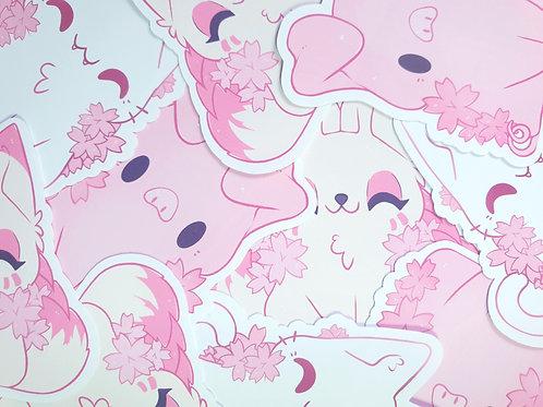 Animal Sakura Stickers