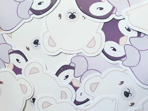 Polar Bear & Penguin Sticker