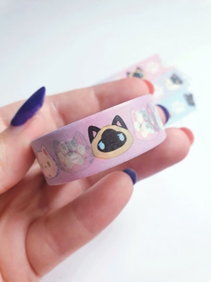 Cat Faces Washi Tape