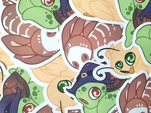 Bird / Turtle / Rabbit Stickers