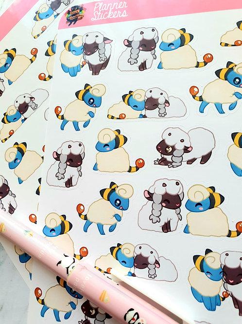 Mareep & Wooloo Sticker Sheet
