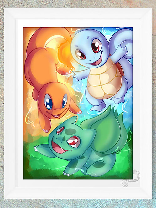 Pokemon Squirtle, Charmander and Bulbasaur