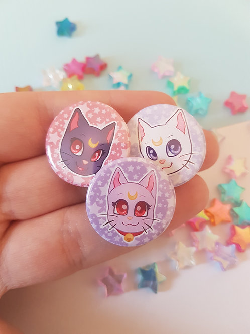 Sailor Moon Cats Badges