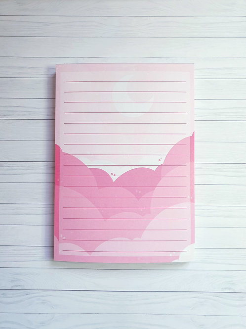 Pink Clouds NotePad