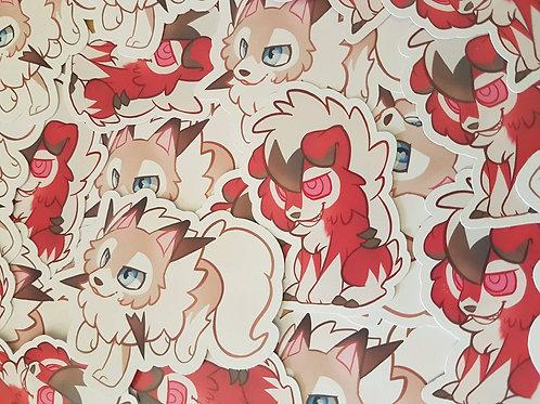 Pokemon Lycanroc Sticker