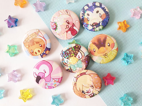 Animal Crossing Button Badges