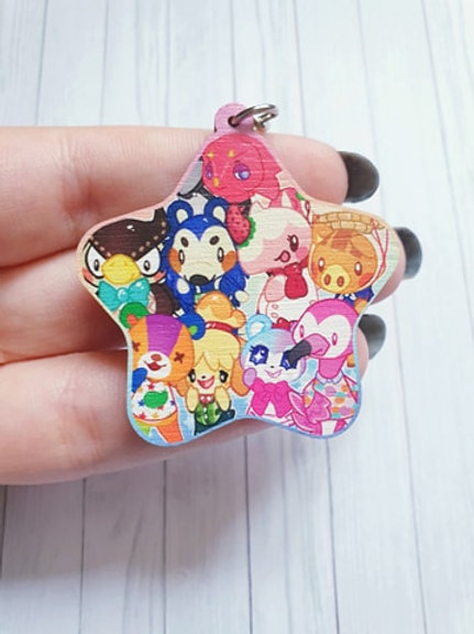 "Star Animal Crossing 2"" Wood Charm"