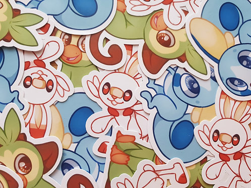 Gen 8 Starter Stickers