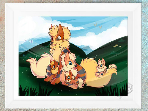 Pokemon Arcanine Family