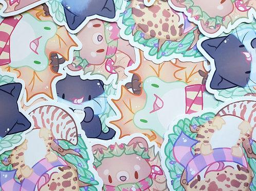 Autumn Animals Stickers