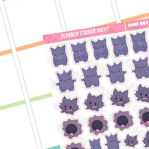 Gengar Evolution Sticker Sheet
