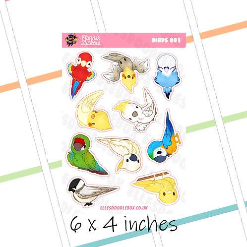 Bird Sticker Sheet