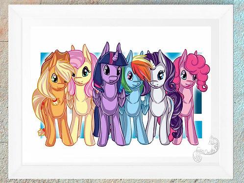 MLP Twilight Sparkle Applejack Rarity Fluttershy Pinkie Pie Rainbow Dash
