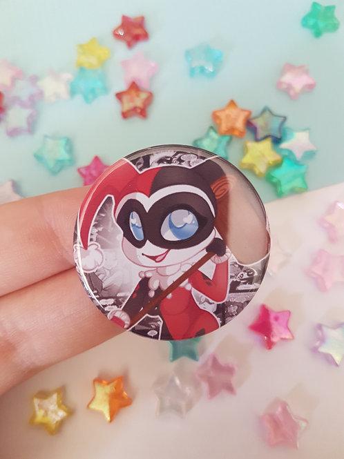 Harley Quinn Pin Badge Button