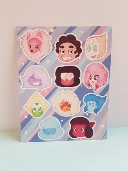 Steven Universe Sticker Sheet
