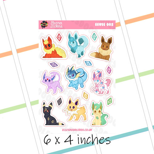 Eeveelutions Sticker Sheet