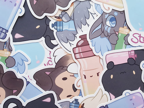 Hydrated Stickers