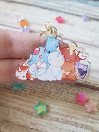 "Water Pokemon 2 / 2"" Acrylic Charm"