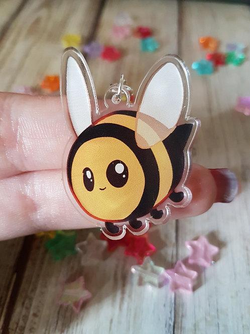 """Bumble Bee 2"""" Acrylic Charm"""