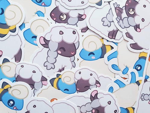 Wooloo & Mareep Stickers
