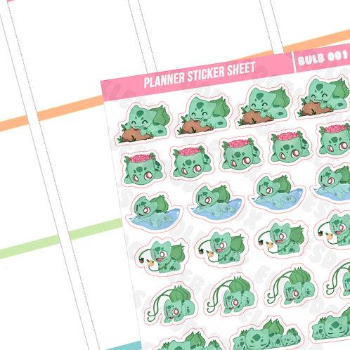 Bulbasaur Sticker Sheet