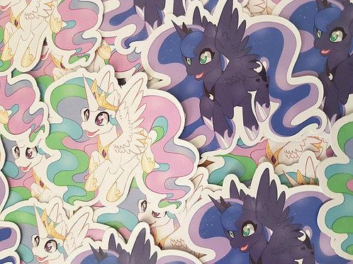 Celestia Luna Stickers