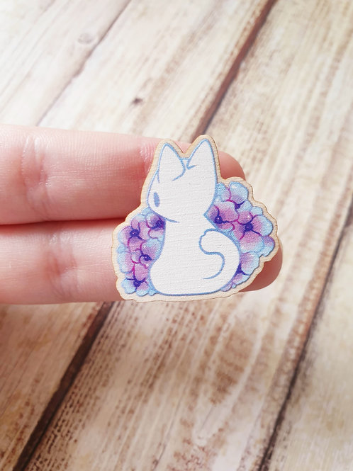 Cat Wooden Pin