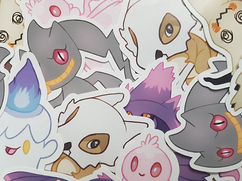 Ghost Pokemon Stickers Set 2